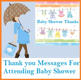 Thank You Messages! : Baby Shower