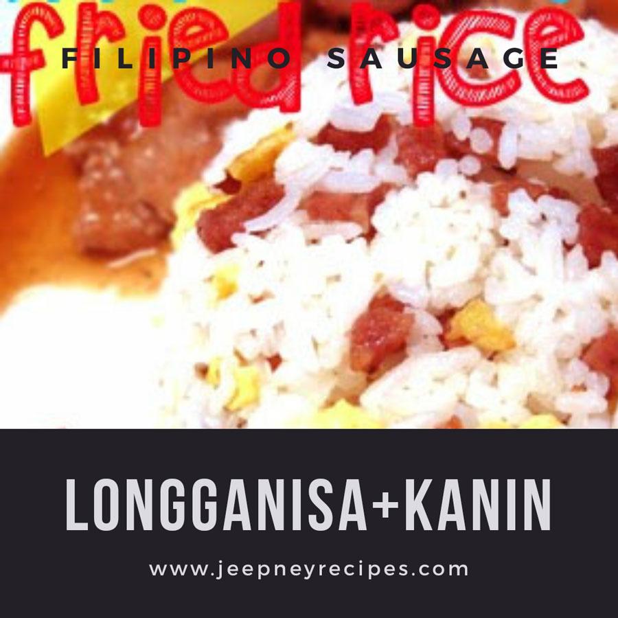 filipino sausage fried rice www.jeepneyrecipes.com