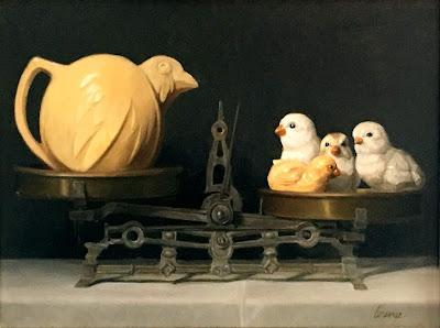 original oil painting still life, representational art, judicial system