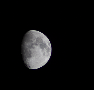 300mm waxing gibbous moon