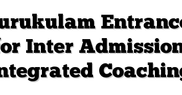 Telangana Gurukulam Inter Admission NotificationCCE Model