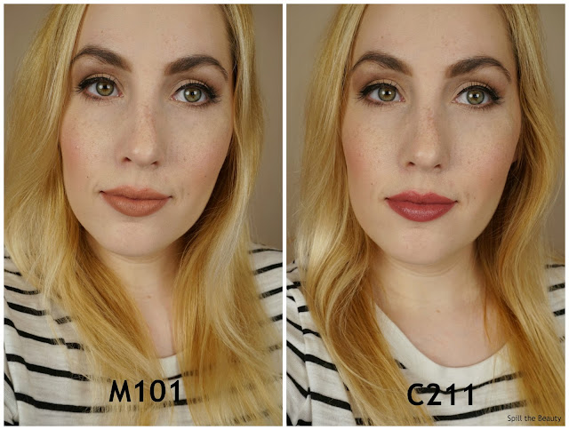 MAKE UP FOR EVER artist rouge lipstick m101 c211 review swatches