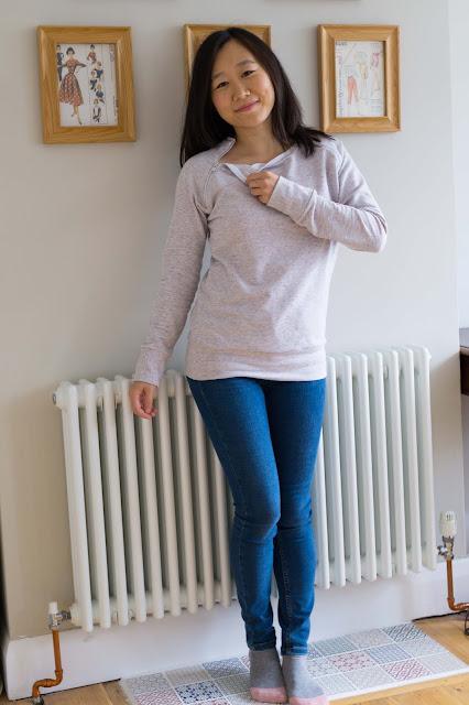 Papercut Undercover Sweatshirt raglan zip Nursing Hack