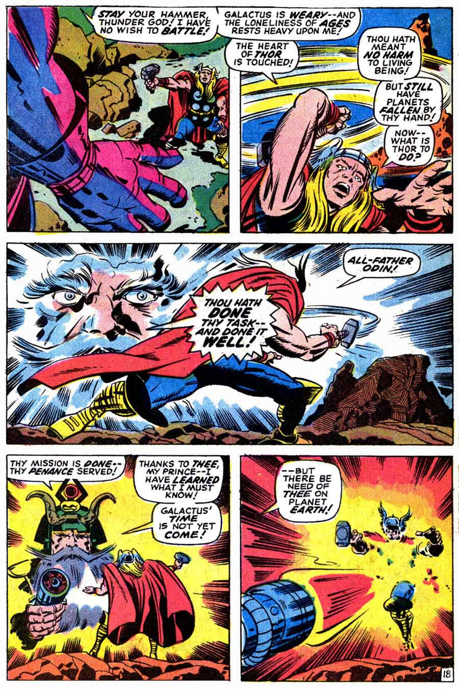Thor v1 #169 marvel silver age comic book page art by Jack Kirby