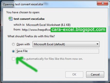 Cara Convert Pdf ke Excel