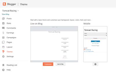 Cuplikan Pergantian Template pada Blogspot