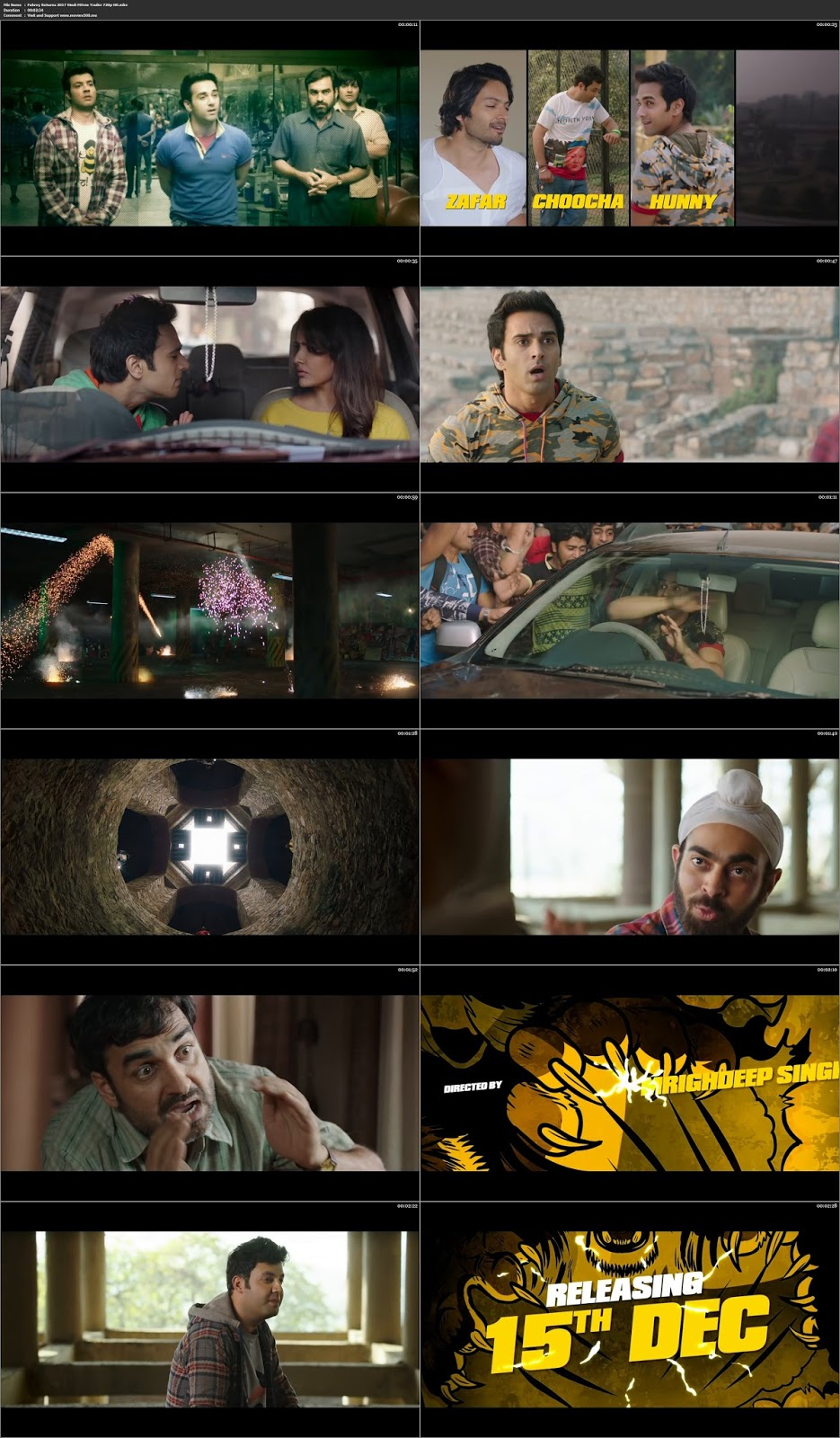 Fukrey Returns 2017 Hindi Official Trailer Download 720p at movies500.xyz