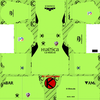 and the package includes complete with home kits Baru!!! SD Huesca 2018/19 Kit - Dream League Soccer Kits