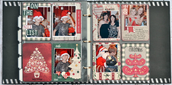Misc. Me Spread by Denise van Deventer using BoBunny Merry & Bright and 3L Scrapbook Adhesives