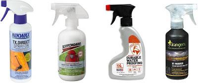 Contoh produk reproofing berjenis spray-in