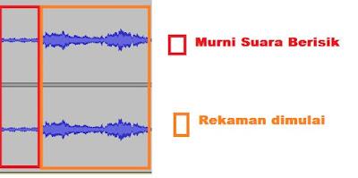 Mengenal Grafik Suara berisik di Audacity
