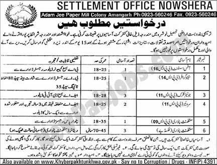 Jobs in Settlement Office Nowshera
