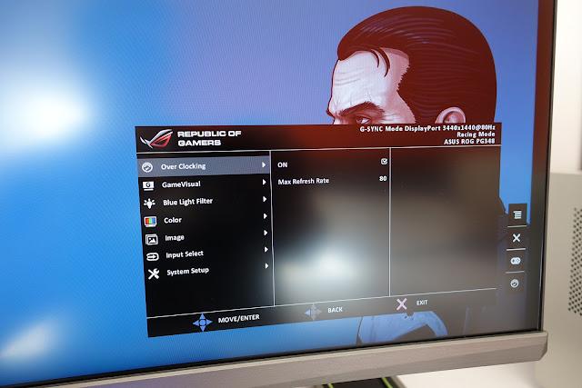 Overclock frecuencia de refresco monitor ultrawide PG348Q