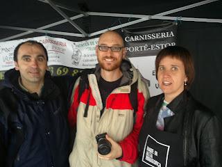 Porte Estop, Txaber Allué i Cristina Prades. Fira a Tarragona.
