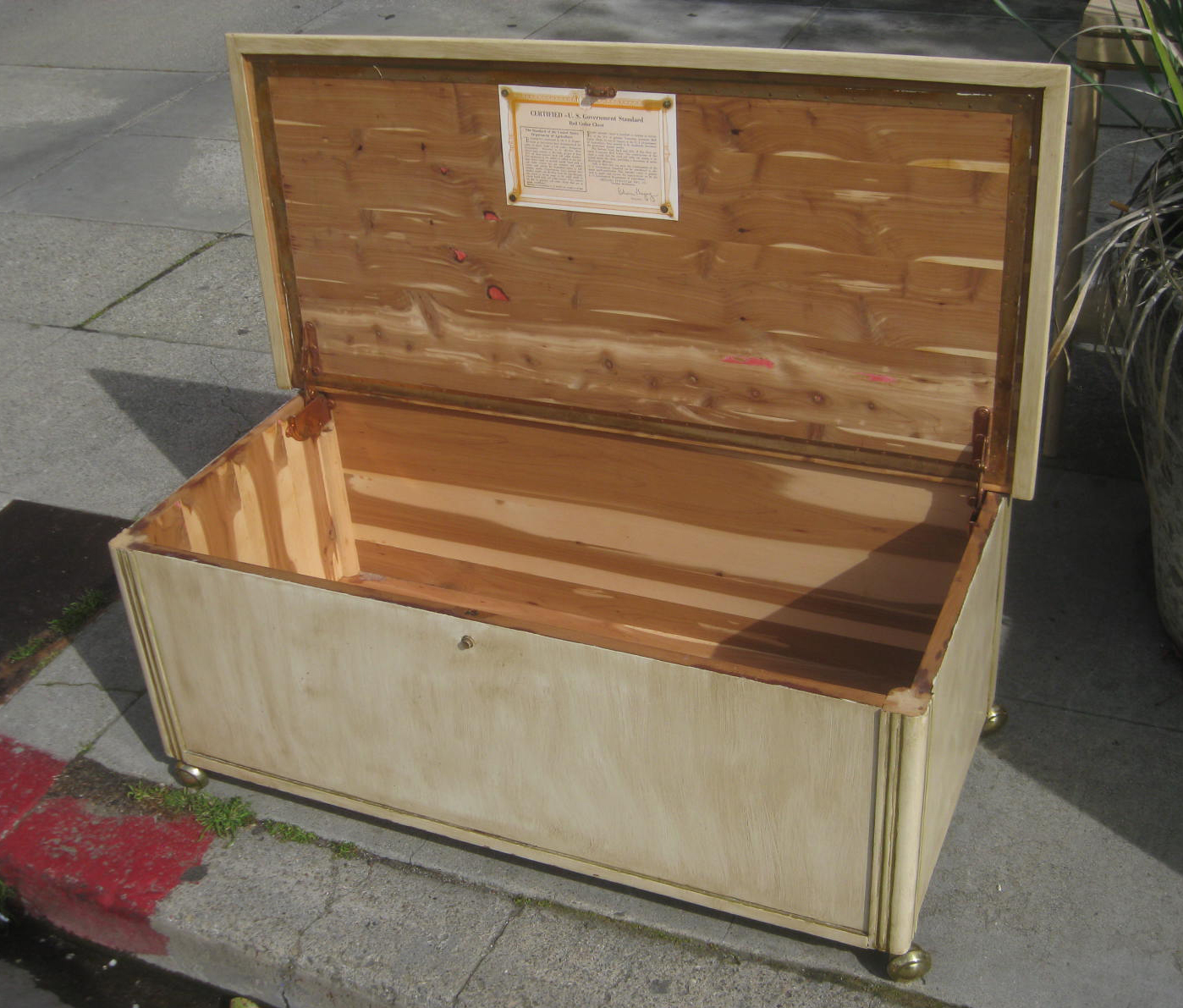 Ideal UHURU FURNITURE & COLLECTIBLES: SOLD - White Washed Cedar Chest - $90 YD09