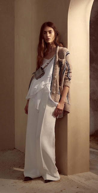 look from Brunello Cucinelli, spring 2017