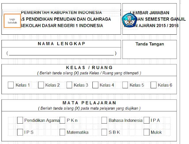 Download Format Lembar Jawaban Ulangan
