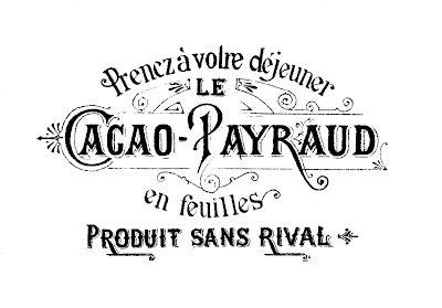 See the tutorial to add this Vintage French Label graphic onto a serving tray.