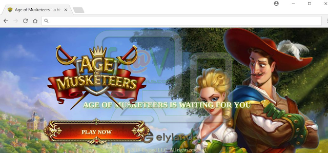 Ageofmusketeers.com pop-ups