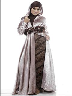 gambar model baju batik pesta wanita
