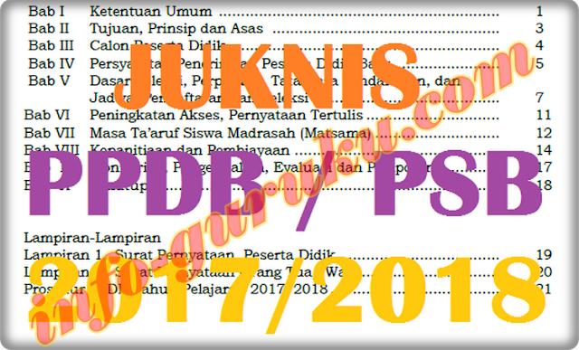 Juknis Penerimaan Siswa Baru / PPDB 2017/2018