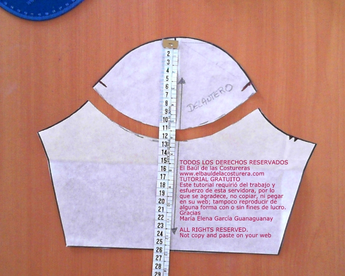 tutorial para hacer molde de costura blusa mujer