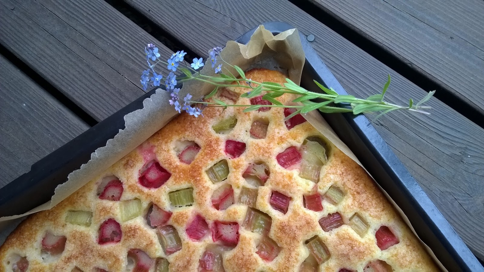 raparperipeltipiirakka peltipiirakka piirakka raparperi leivonta sesonkiruoka sesonki