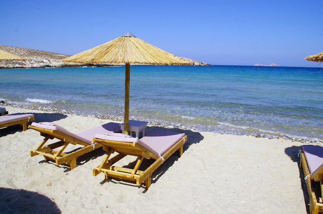 Paros Beach with Sun Lounge