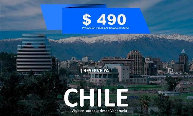 Chile viaje en autobús  desde venezuela
