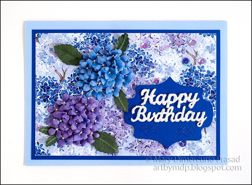 Awash With Color Hydrangea Card With Embossed Bobunny Paper