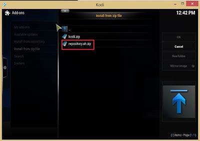 AH-Add on repository on Kodi