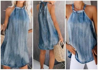 Vestidos-Blusones con tirantes costura fácil