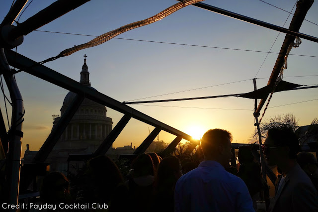 Cocktails at Madison Rooftop Bar London