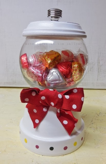 candy dish red bow