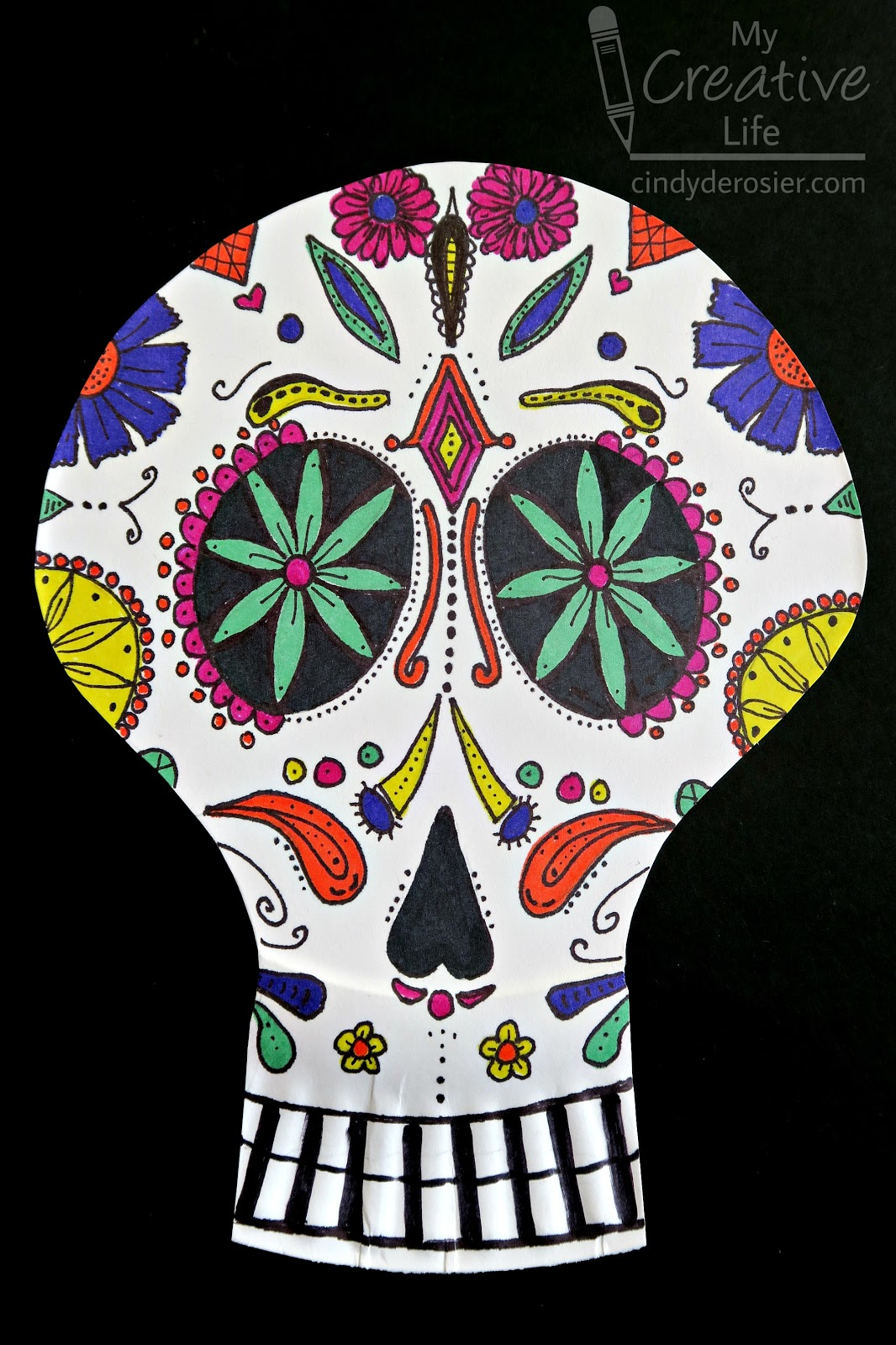 Cindy Derosier My Creative Life Day Of The Dead Paper