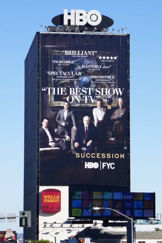 Giant Succession season 1 HBO FYC billboard