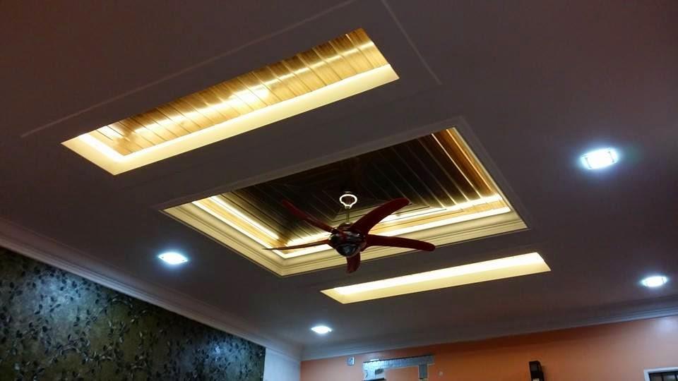 Siling Fiber Ctwood Ruang Tamu Keluarga Dapur Bilik Master Air Dan Porch Utama Rumah Azuhairi Ain Di Batu 10 Bukit Payung