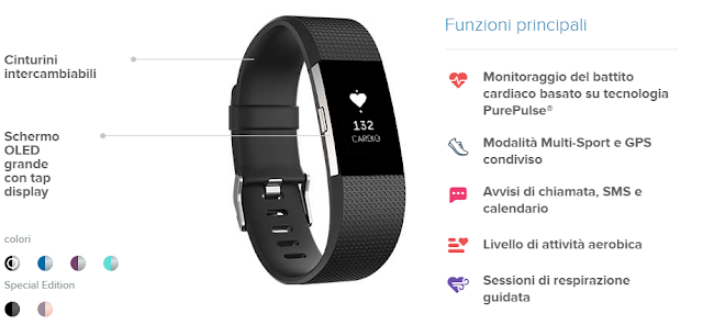 fitbitta - Recensione FitBit Charge 2