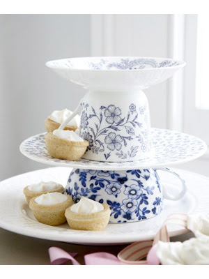This DIY dessert tower was made with a few vintage teacups - perfect for a tea party