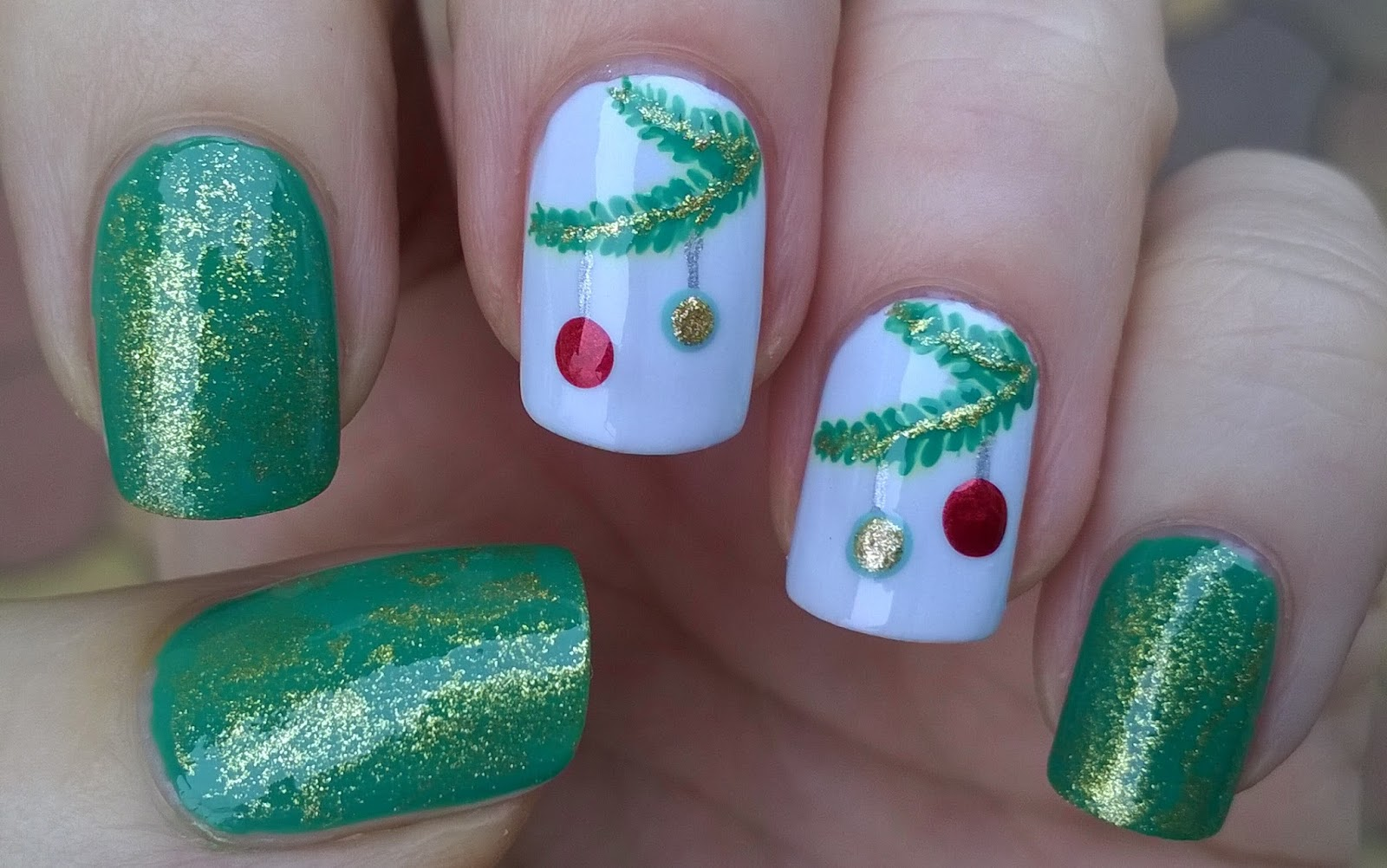 Nail Art Christmas Tree Lights | www.topsimages.com