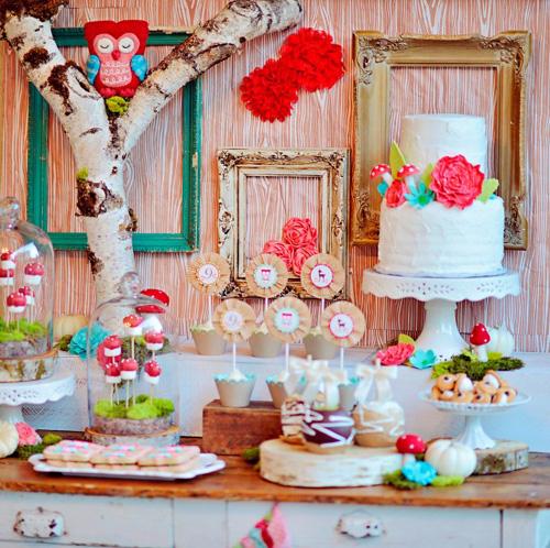 My Owl Barn A Girlie Woodland Owl Themed Birthday Party