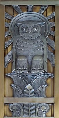 Owl above door to center reading room, Library of Congress