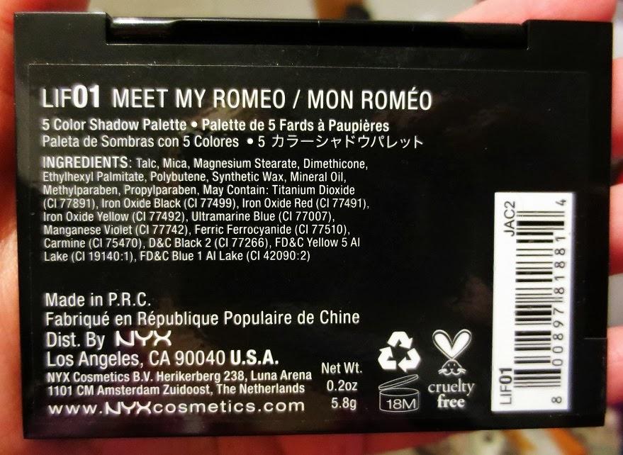 nyx meet my romeo review