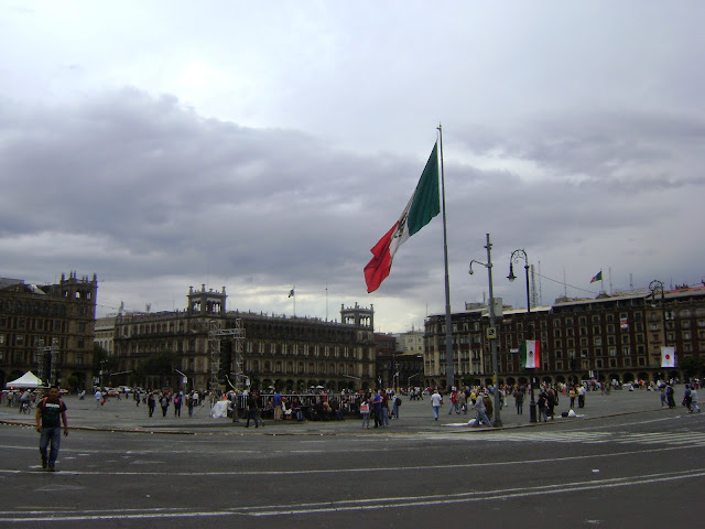 Zocalo de la Ciudad de Mexico. Centro Historico de la Ciudad de Mexico