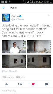 DAVIDO BUILD A NEW HOUSE FOR MOTHER AND SON