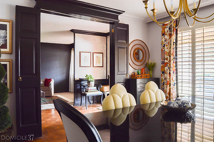 Why choosing to use black interior doors in your home can make your space feel brighter and more chic in any room of your home. | via MonicaWantsIt.com