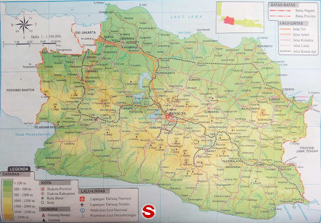 Gambar Peta Atlas Provinsi Jawa Barat