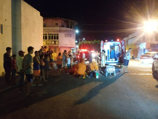 Colisão entre motos deixa duas pessoas feridas em Delmiro Gouveia