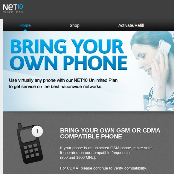 NET10 Launches Bring Your Own Verizon Phone Site