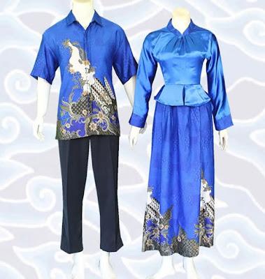 Model Gamis Batik Sarimbit terbaru
